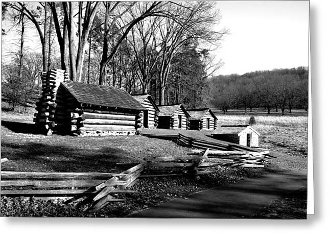 Valley Forge In Black And White Greeting Card