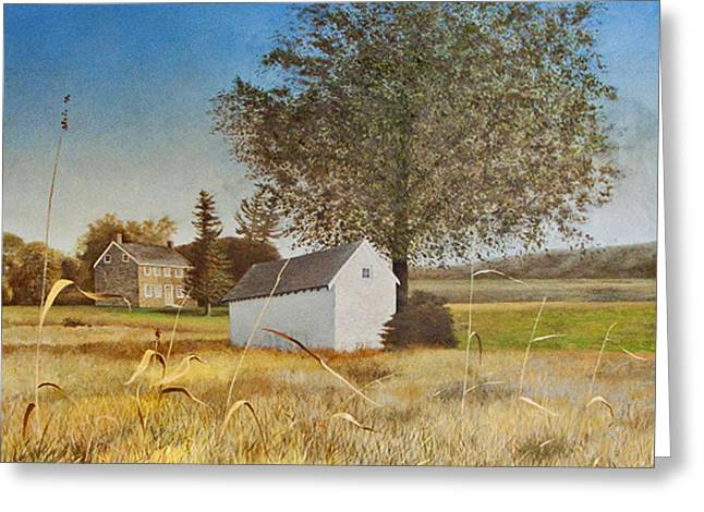Valley Forge Spring House Greeting Card by Randall Graham