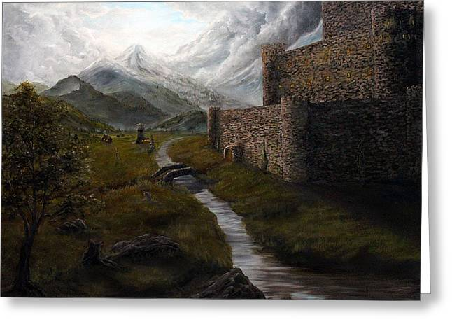 Valley Fortress Greeting Card by Kory Kiewitz