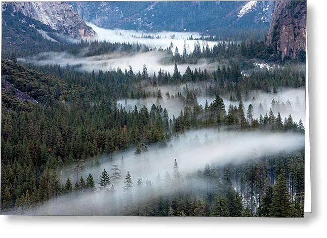 Valley Mist Yosemite, California Greeting Card