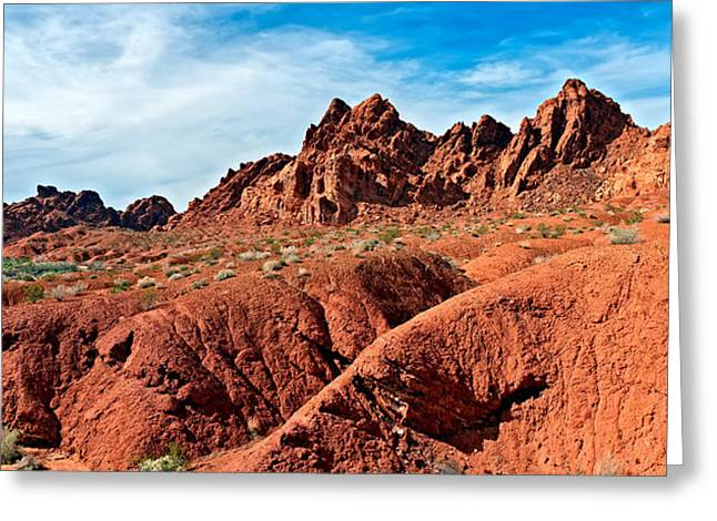 Valley Of Fire Pano Greeting Card