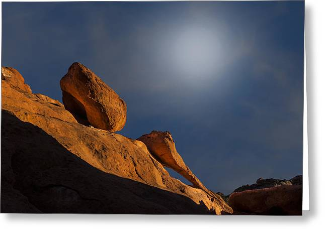 Valley Of Fire Square One Greeting Card