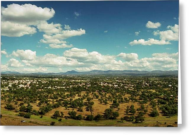 Valley Of Mexico As Seen Greeting Card