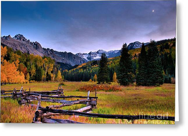 Valley Of Mt Sneffels Greeting Card