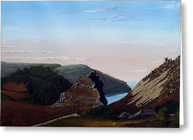 Valley Of Rocks Devon Greeting Card by Richard Taylor