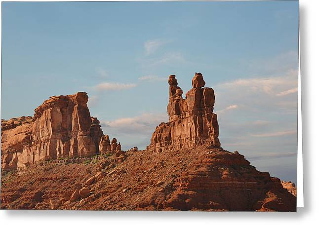 Valley Of The Gods - Escape From Civilization Greeting Card by Christine Till