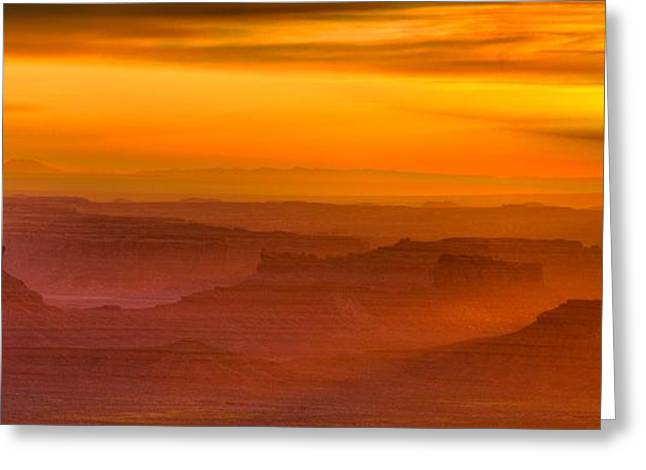 Valley Of The Gods Sunrise Utah Four Corners Monument Valley II Greeting Card by Silvio Ligutti