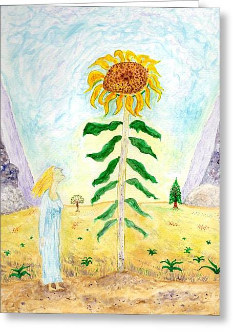 Valley Of The Mammoth Sunflowers Greeting Card