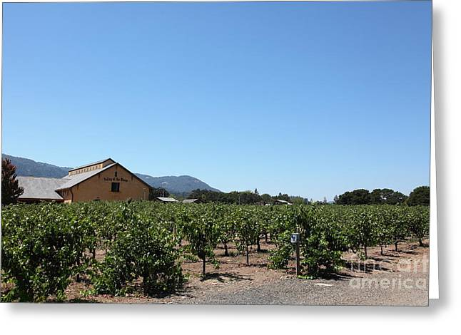 Valley Of The Moon Winery In The Sonoma California Wine Country 5d24486 Greeting Card by Wingsdomain Art and Photography