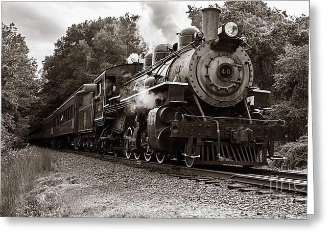 Valley Railroad Steam Train Greeting Card