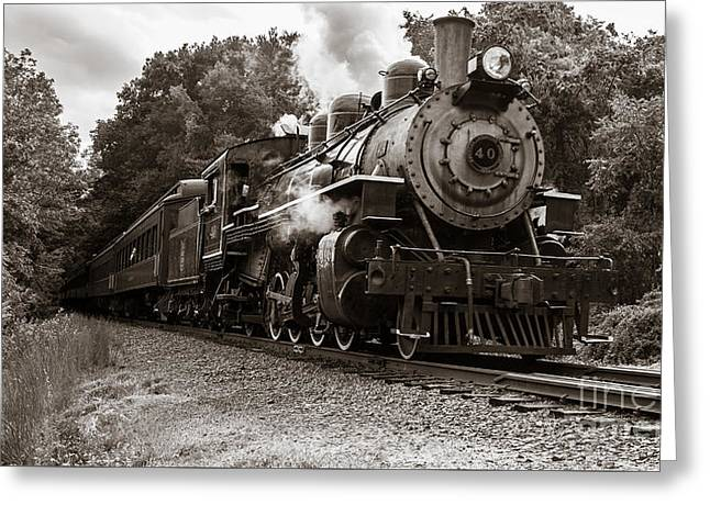 Valley Railroad Steam Train Greeting Card