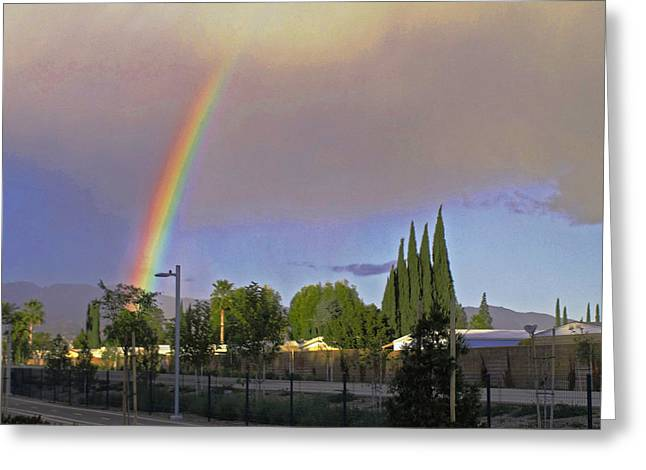 Valley Rainbow 3 Greeting Card