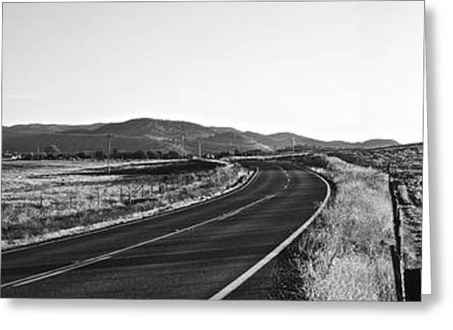 Valley Springs Road Panorama Greeting Card