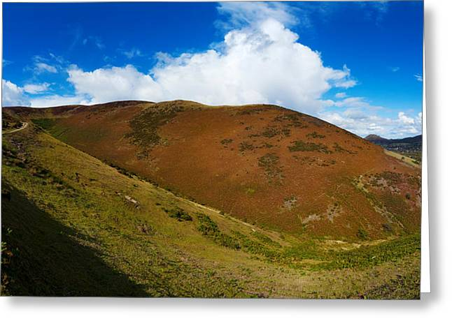 Valley To Hopes Wood, Little Stretton Greeting Card by Panoramic Images