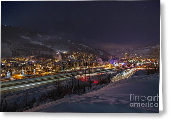 Valley Traffic Greeting Card