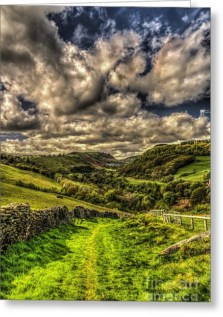 Valley View Greeting Card by Steve Purnell