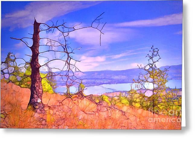 Valley Views Greeting Card by Tara Turner