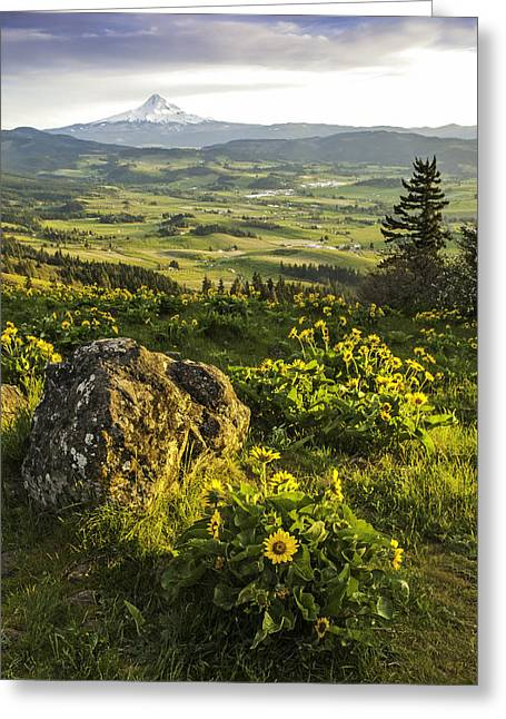 Greeting Card featuring the photograph Valley Vista by Judi Baker
