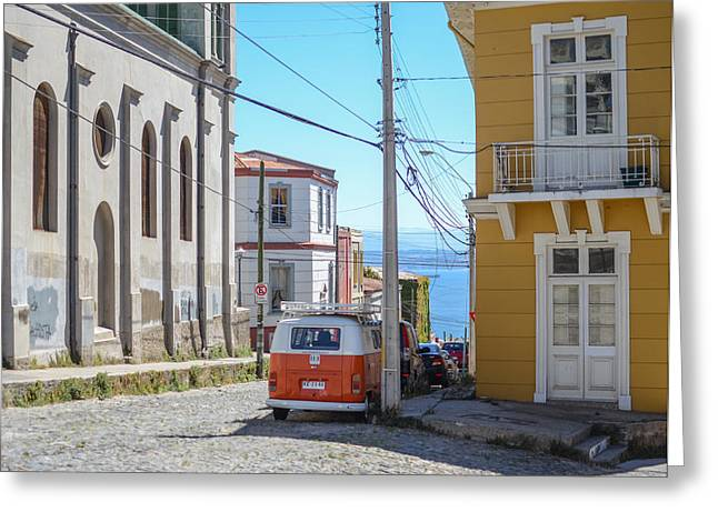 Valparaiso Chile Greeting Card by Eric Dewar