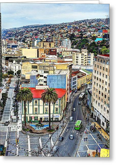 Valparaiso A Color Palette City Greeting Card