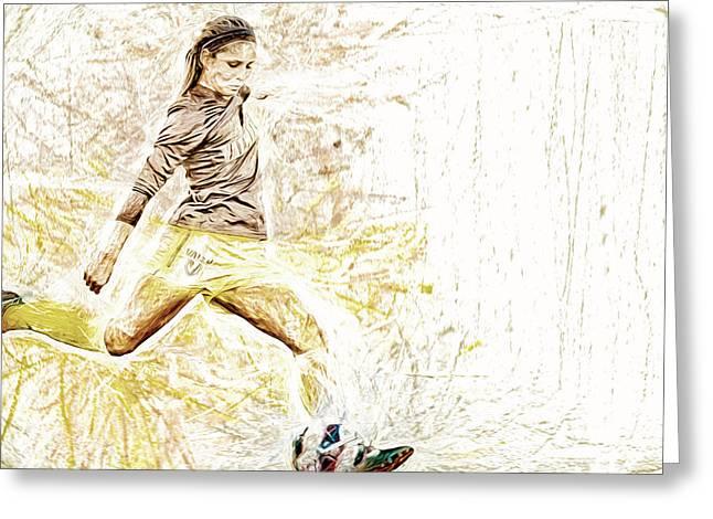 Valparaiso Soccer Sydney Rumple Painted Digitally Etc Greeting Card