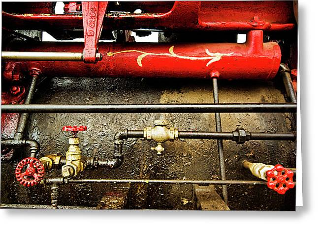 Valves Lines And Tanks Greeting Card