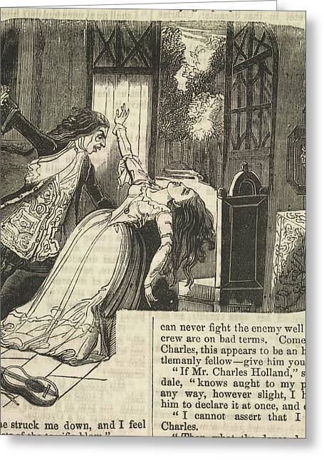 Vampire And Woman Greeting Card by British Library