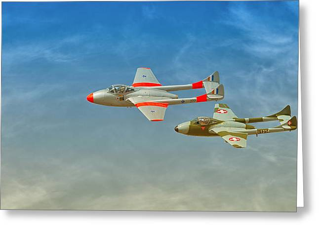 Vampire Jets Greeting Card by Johan Combrink