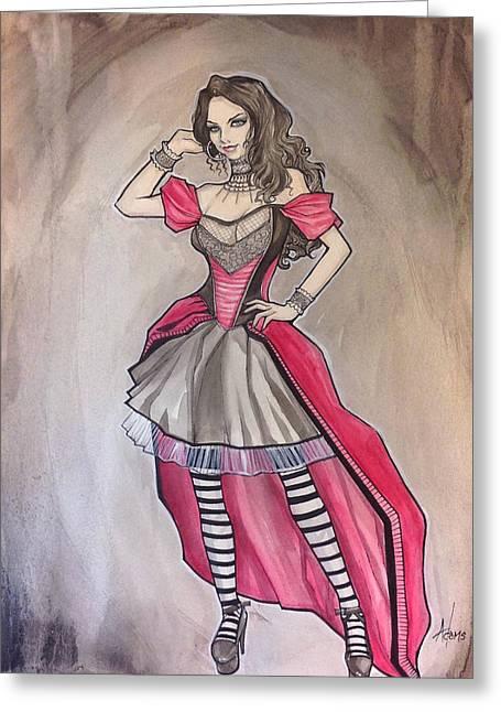 Vampire Mihela Greeting Card