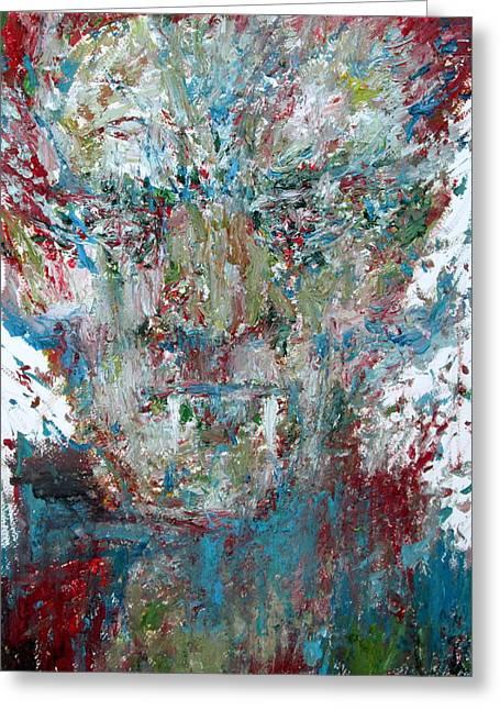 Vampire - Oil Portrait Greeting Card by Fabrizio Cassetta
