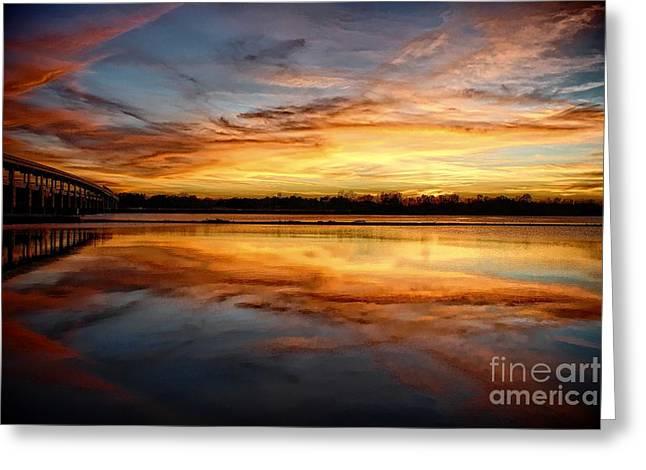 Van Buren Sunset Greeting Card by Tammy Chesney