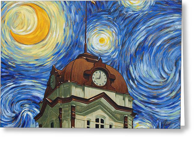 Van Gogh Courthouse Greeting Card