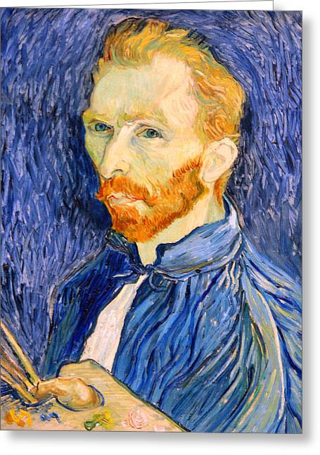 Greeting Card featuring the photograph Van Gogh On Van Gogh by Cora Wandel