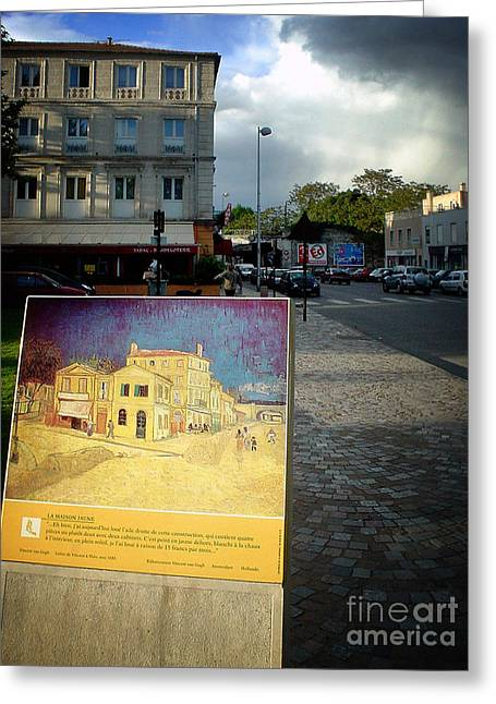 Greeting Card featuring the photograph Van Gogh Painting In Arles by Michael Edwards