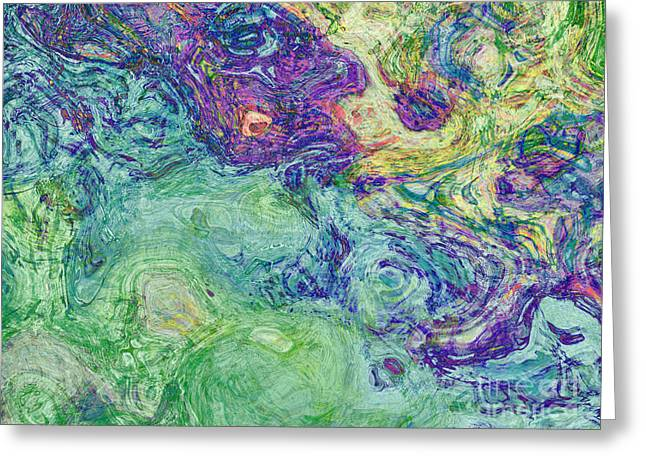 Van Gogh Style Abstract II Greeting Card by Debbie Portwood