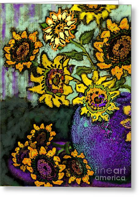 Van Gogh Sunflowers Cover Greeting Card