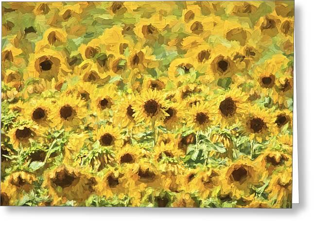 Van Gogh Sunflowers Greeting Card