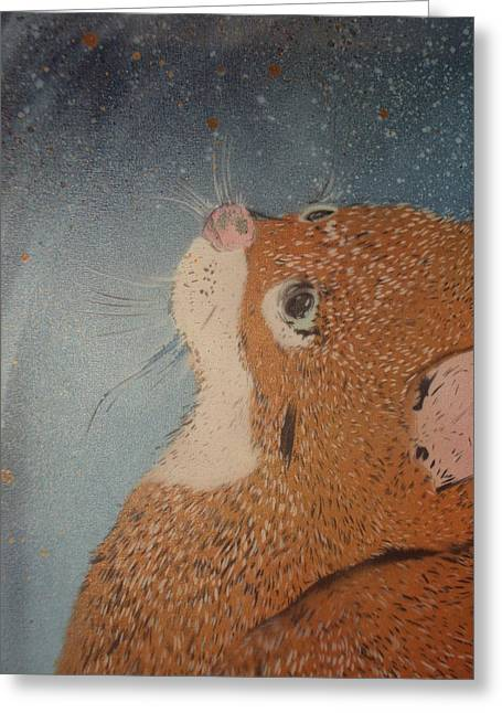 Van Goghs Cat Greeting Card by Christopher Golding
