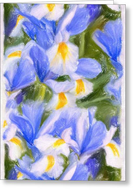 Van Gogh's Iris Greeting Card by Angela A Stanton