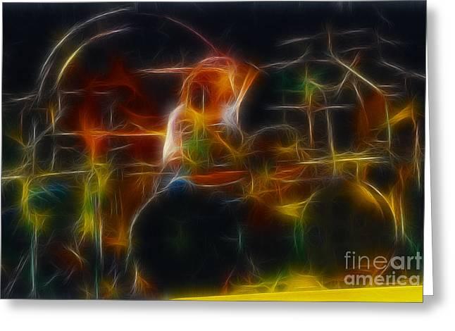 Van Halen-alex-93-gc5-fractal Greeting Card by Gary Gingrich Galleries