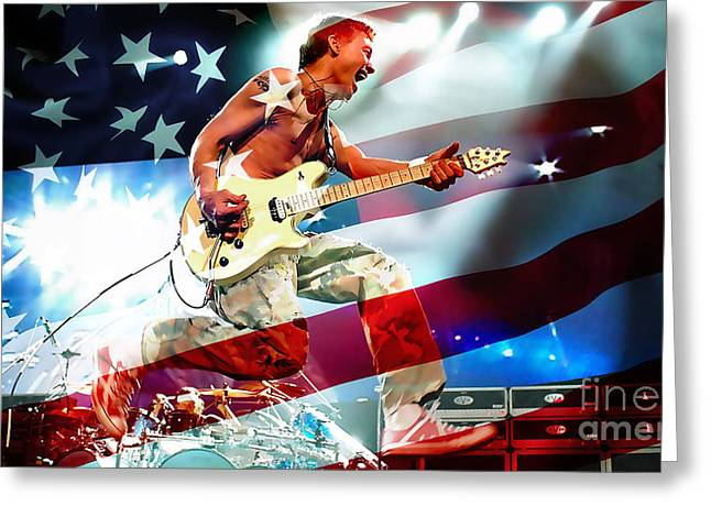 Van Halen Greeting Card by Marvin Blaine
