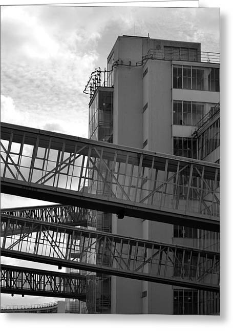 Van Nelle Factory Bw II Greeting Card by Eric Keesen