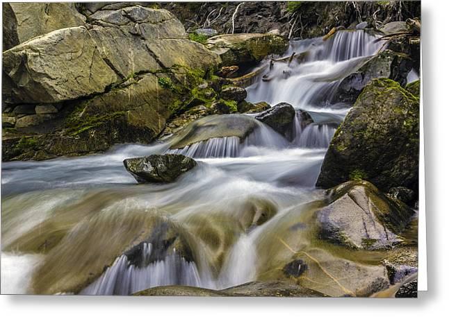 Van Trump Creek Mount Rainier National Park Greeting Card by Bob Noble Photography