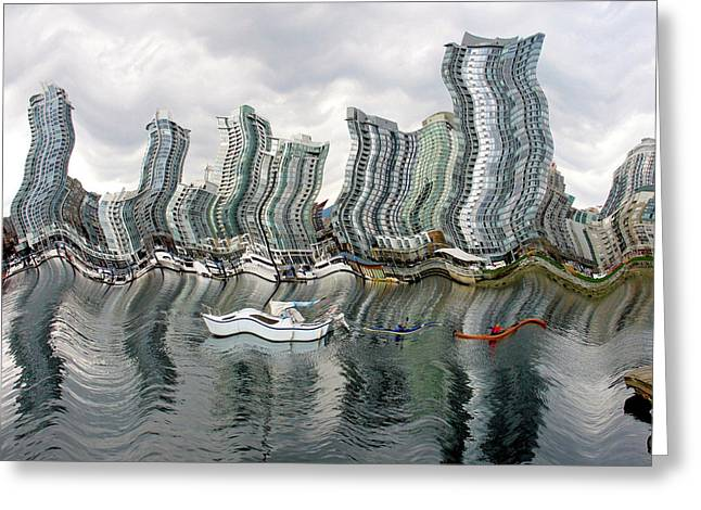 Vancouver Abstracted Greeting Card