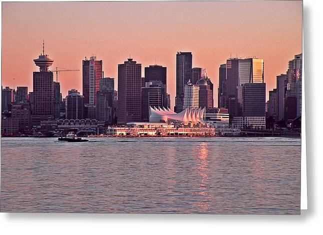 Vancouver Bc Greeting Card by Brian Chase