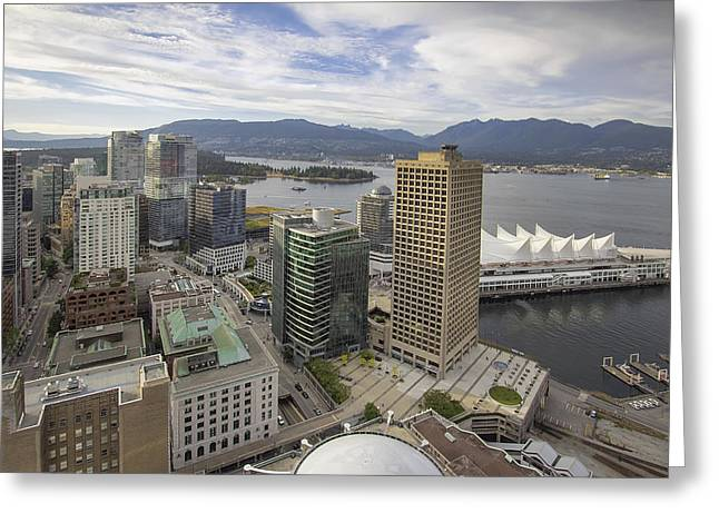 Vancouver Bc City With Stanley Park View Greeting Card