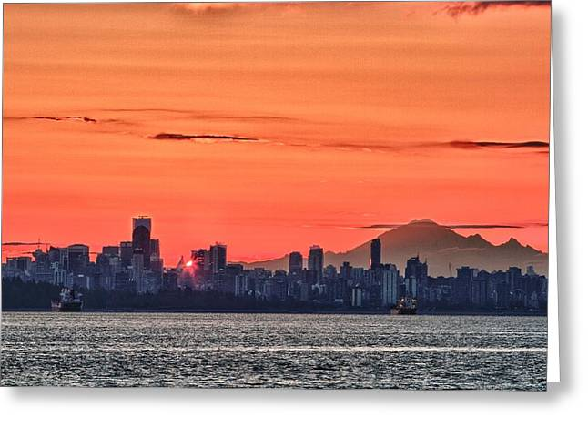Vancouver Bc Morning Greeting Card by Scott Holmes
