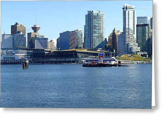 Vancouver Bc Skyline Panorama Canada. Greeting Card by Gino Rigucci