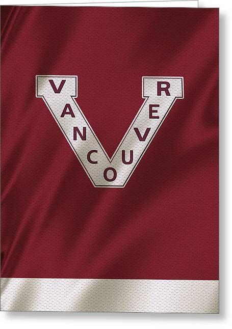 Vancouver Canucks Uniform Greeting Card by Joe Hamilton