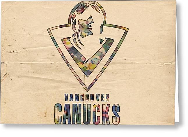 Vancouver Canucks Vintage Poster Greeting Card